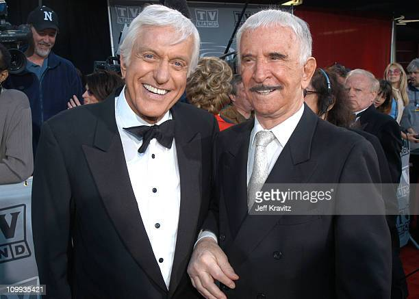Dick Van Dyke and Don Adams during The TV Land Awards Arrivals at Hollywood Palladium in Hollywood CA United States