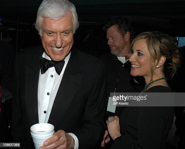 Dick Van Dyke and Maureen McCormick during The TV Land Awards Backstage at Hollywood Palladium in Hollywood CA United States