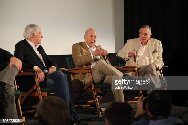 Dick Van Dyke Carl Reiner and Peter Marshall attend the special screening and QA 'Rose Marie Wait for Your Laugh' at Aero Theatre on August 3 2017 in...