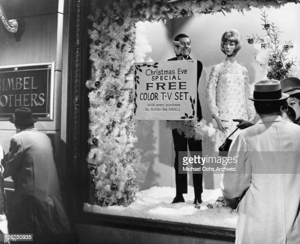 Dick Van Dyke is about to cause a riot in a department store as part of a gigantic robbery plot in a scene from the film 'Fitzwilly' 1967
