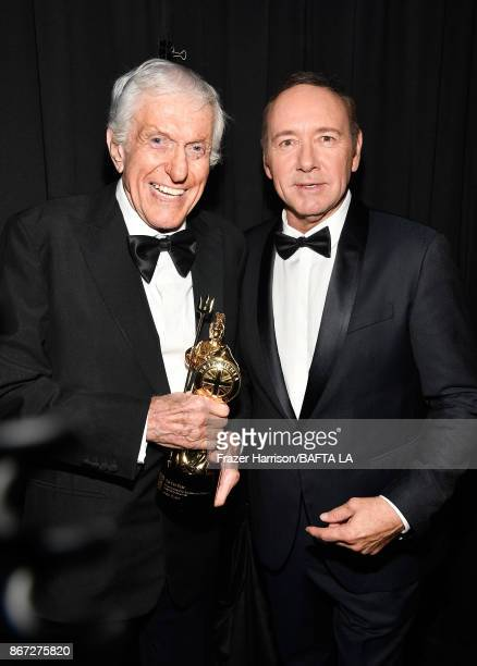 Dick Van Dyke recipient of the Britannia Award for Excellence in Television presented by Swarovski with Kevin Spacey at the 2017 AMD British Academy...