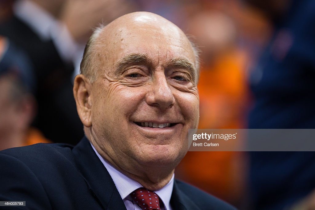 <a gi-track='captionPersonalityLinkClicked' href=/galleries/search?phrase=Dick+Vitale&family=editorial&specificpeople=730924 ng-click='$event.stopPropagation()'>Dick Vitale</a> prepares for broadcast of a game between the Syracuse Orange and the North Carolina Tar Heels on January 11, 2014 at The Carrier Dome in Syracuse, New York. Syracuse defeats North Carolina 57-45.