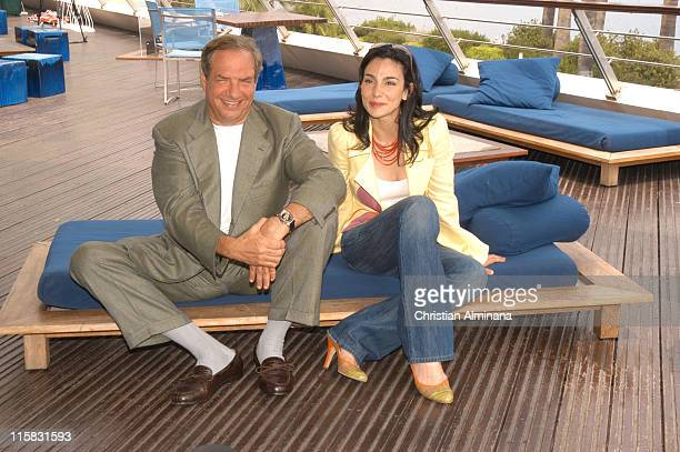 Dick Wolf and Annie Parisse during 45th Monte Carlo Television Festival 'Law Order' Photocall at Grimaldi Forum in Monte Carlo France