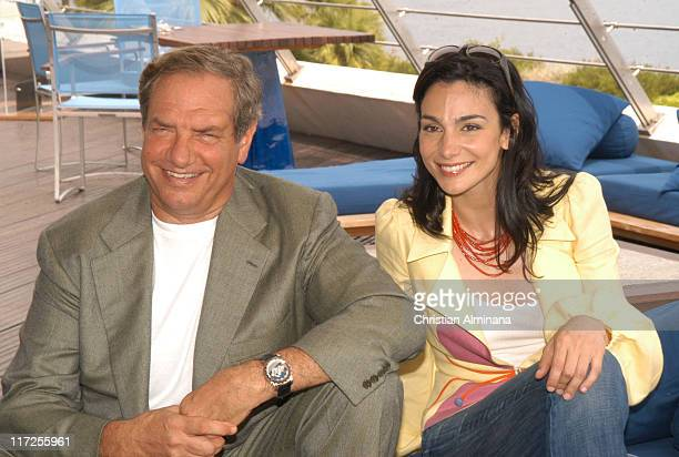 Dick Wolf and Annie Parisse during 45th Monte Carlo Television Festival Law Order Photocall at Grimaldi Forum in Monte Carlo France
