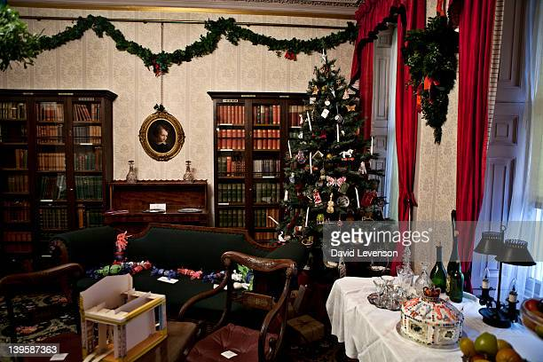Dickens Drawing Room decorated for Christmas in the style of the 1830's when he lived at the Charles Dickens Museum on Doughty Street on January 6...