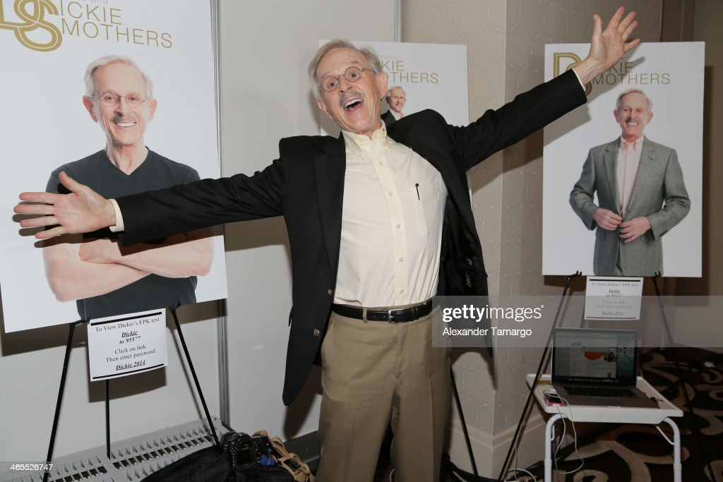 Dickie Smothers is sighted at NATPE 2014 at Fontainebleau Miami Beach on January 27, 2014 in Miami Beach, Florida.