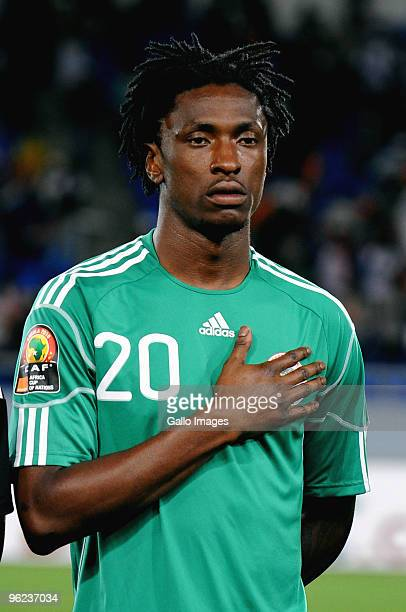 Dickson Etuhu of Nigeria during the Africa Cup of Nations Quarter Final match between Zambia and Nigeria from the Alto da Chela Stadium on January 25...