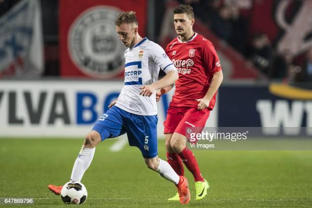 Dico Koppers of Willem II Mateusz Klich of FC Twenteduring the Dutch Eredivisie match between FC Twente and Willem II Tilburg at the Grolsch Veste on...