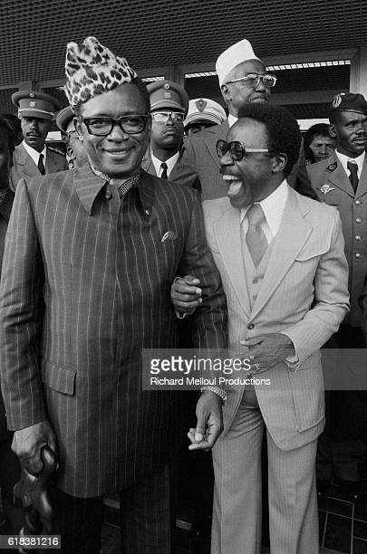 Dictator Mobutu Sese Seko of Zaire and President Omar Bongo of the Gabonese Republic share a laugh during the sixth FrancoAfrican Summit in Kigali...