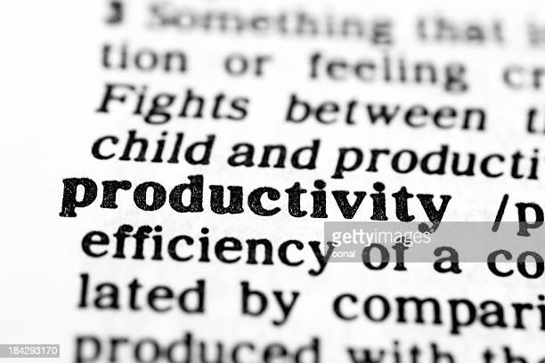 Dictionary definition for productivity