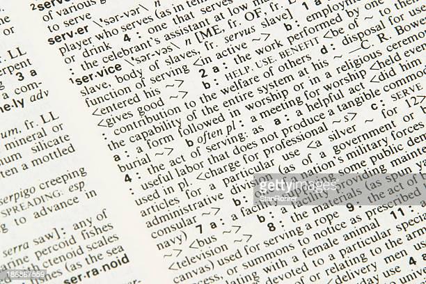 Diccionario definición de servicio, Descripción