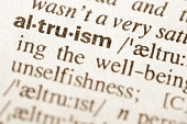 Definition of word altruism in dictionary