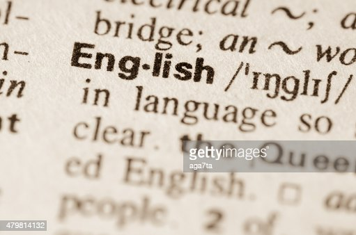 Dictionary definition of word English : Stock Photo