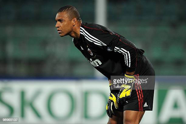 Dida goalkeeper of Milan looks on during the Serie A match between US Citta di Palermo and AC Milan at Stadio Renzo Barbera on April 24 2010 in...