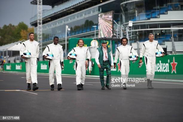 Dida of Brazil Louis Saha of France Michel Salgado of Spain Heineken's 'When You Drive Never Drink' Brand Ambassador Sir Jackie Stewart Christian...
