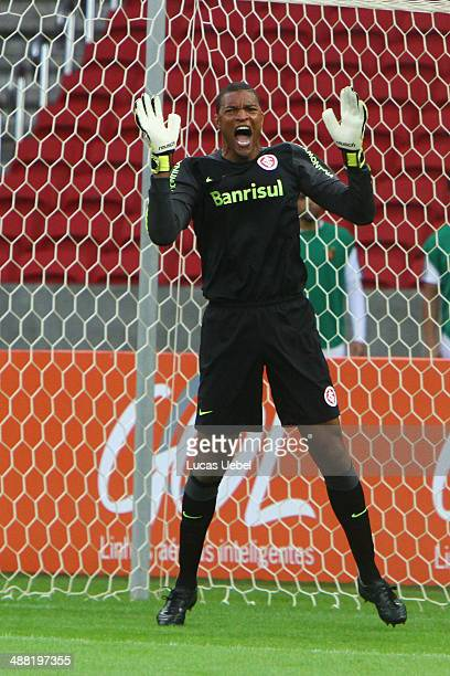 Dida of Internacional during the match between Internacional and Sport as part of Brasileirao Series A 2014 at Beira Rio Stadium on May 4 in Porto...