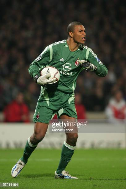 Dida of Milan during the UEFA Champions League Quarter Final 1st Leg match between Lyon and AC Milan at the Stade de Gerland on March 292006 in...