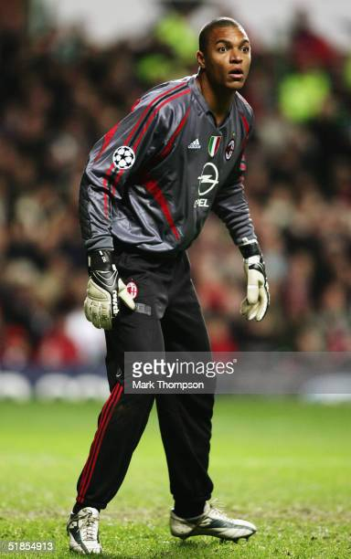 Dida of Milan in action during the UEFA Champions League Group F match between Celtic and AC Milan at Celtic Park on December 7 2004 in Glasgow...