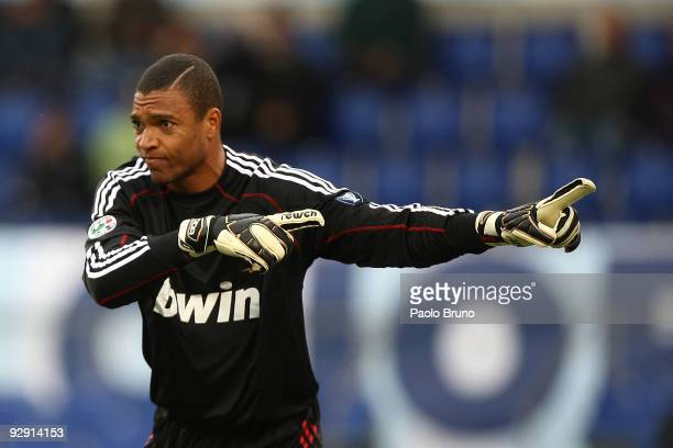 Dida the goalkeeper of AC Milan in action during the Serie A match between SS Lazio and AC Milan at Stadio Olimpico on November 8 2009 in Rome Italy