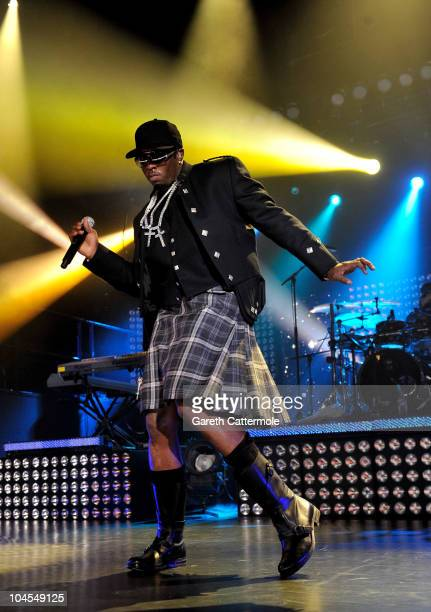 P Diddy and DiddyDirty Money perform during 'MTV Crashes Glasgow headlined by DiddyDirty Money' at The Old Fruit Market on September 29 2010 in...