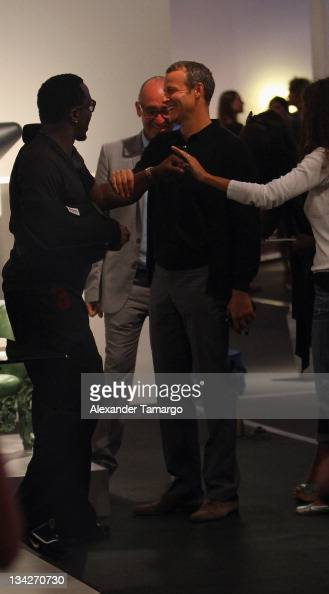 P Diddy and Vladislav Doronin attend Design Miami 2011 Vernissage at the Miami Beach Convention Center on November 29 2011 in Miami Beach Florida