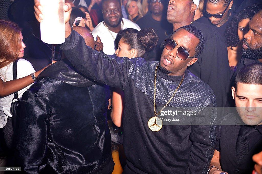P. Diddy celebrates Thanksgiving at Bamboo Miami on November 21, 2012 in Miami, Florida.