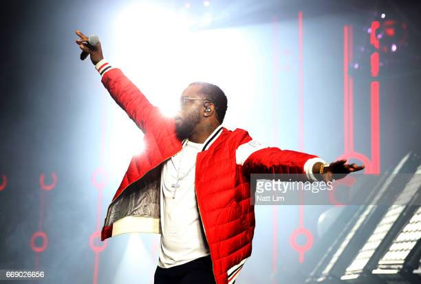 P Diddy performs on the Sahara Stage during day 2 of the Coachella Valley Music And Arts Festival at the Empire Polo Club on April 14 2017 in Indio...