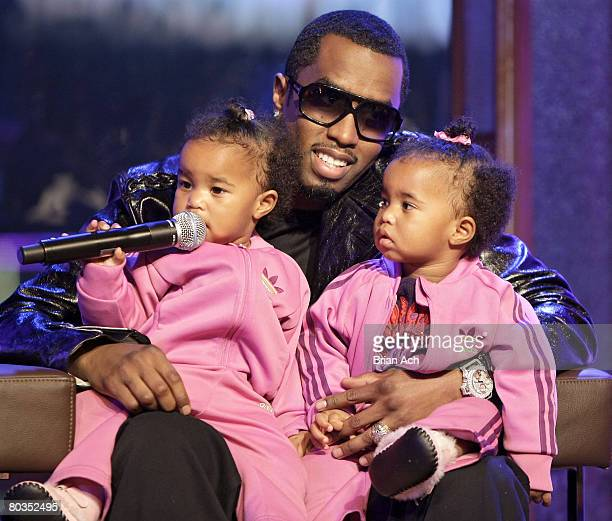 Diddy with his twins D'Lila Star and Jessie James at MTV's 'Making the Band 4' Season Finale at MTV Studios in Times Square on March 22 in New York...