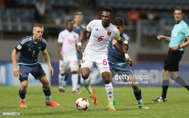 Dide Fofana of Guinea bw Santiago Ascacibar of Argentina and Exequiel Palacios of Argentina during the FIFA U20 World Cup Korea Republic 2017 group A...