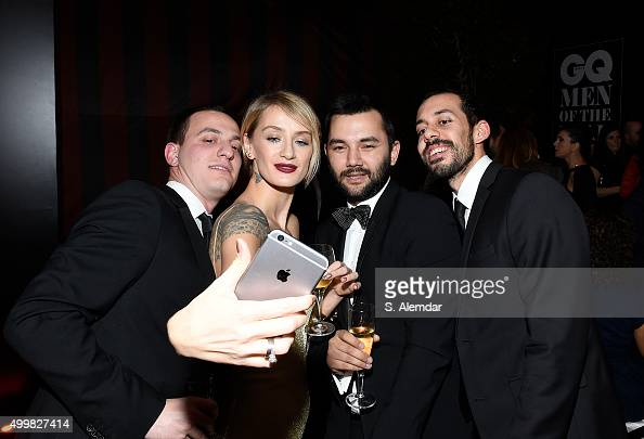 Didem Soydan and Fezi Altun attend the after party for the GQ Men of the Year Awards on December 3 2015 in Istanbul Turkey