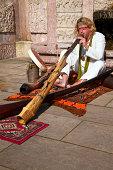 didgeridoo player at historic marketsee also: