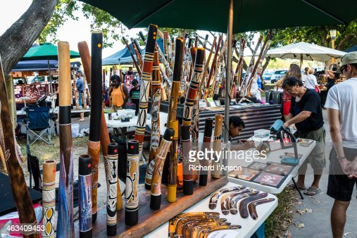 Didgeridoos for sale at Mindil Beach Sunset Market