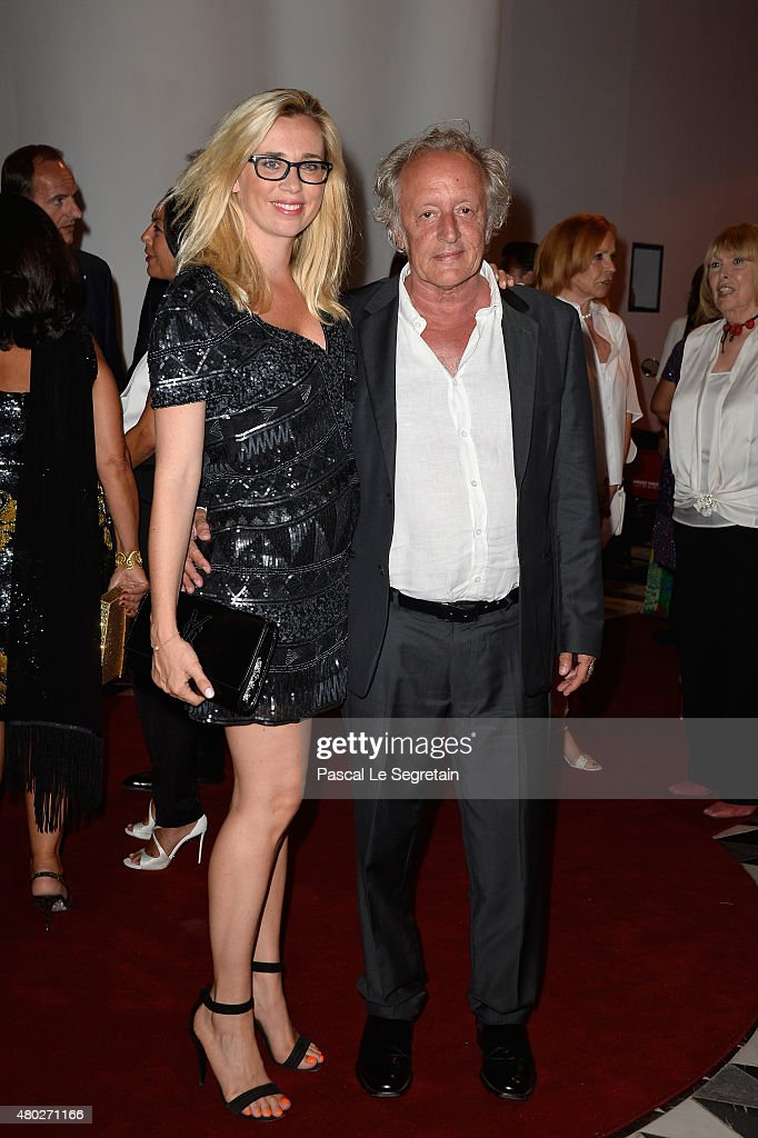 Didier Barbelivien (R) and his wife Laure attend the Fight Aids Charity Gala In Monte-Carlo on July 10, 2015 in Monaco, Monaco.