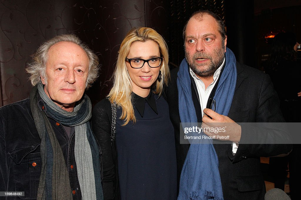 Didier Barbelivien, his guest Laure and Eric Dupont-Moretti attend 'La Petite Maison De Nicole' Inauguration Cocktail at Hotel Fouquet's Barriere on January 21, 2013 in Paris, France.