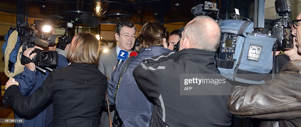 <a gi-track='captionPersonalityLinkClicked' href=/galleries/search?phrase=Didier+Bellens&family=editorial&specificpeople=878481 ng-click='$event.stopPropagation()'>Didier Bellens</a>, CEO of Belgacom, arrives for a meeting with Belgian Minister of Public Enterprises and Development Cooperation in Brussels on November 8, 2013. Bellens is called to explain his statements, in which he compared the Prime Minister to 'a child that comes to pick up his gift from Saint Nicholas at the end of the year'. It is not the first time Bellens' actions or declarations are under fire.