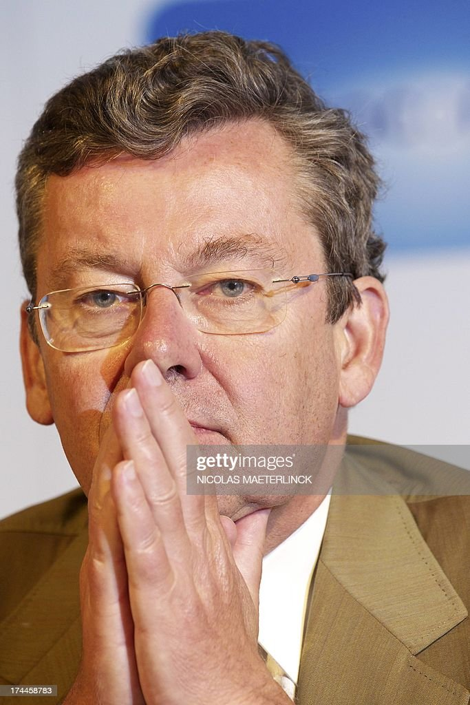 <a gi-track='captionPersonalityLinkClicked' href=/galleries/search?phrase=Didier+Bellens&family=editorial&specificpeople=878481 ng-click='$event.stopPropagation()'>Didier Bellens</a>, CEO of Belgacom gives a press conference of Belgacom to announce their half year results, on July 26, 2013 in Brussels. Belgacom is part of the Bel20 and is the largest telecommunication company in Belgium.