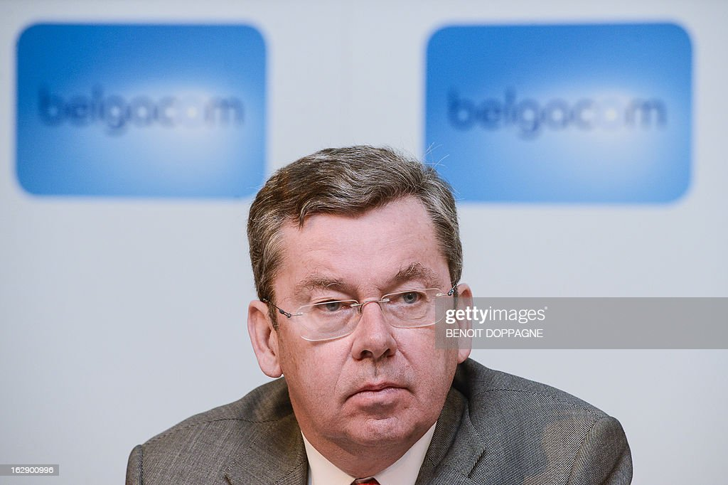 Didier Bellens, CEO of Belgacom is pictured during a press conference of the telecommunication company Belgacom Group to present the 2012 results, on March 1, 2013 in Brussels.