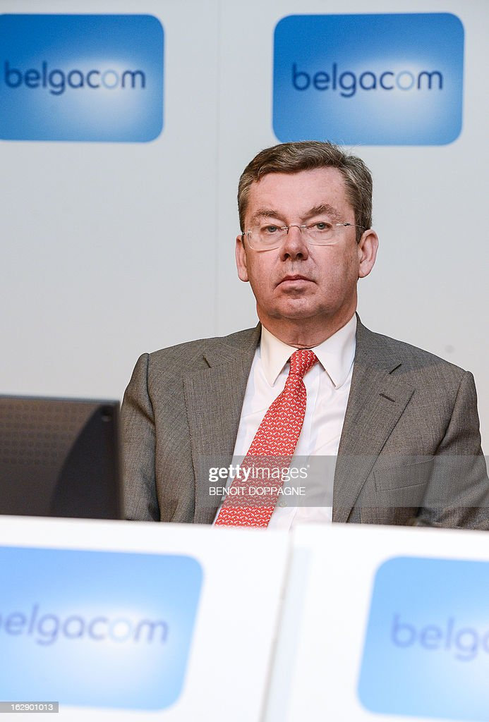 <a gi-track='captionPersonalityLinkClicked' href=/galleries/search?phrase=Didier+Bellens&family=editorial&specificpeople=878481 ng-click='$event.stopPropagation()'>Didier Bellens</a>, CEO of Belgacom is pictured during a press conference of the telecommunication company Belgacom Group to present the 2012 results, on March 1, 2013 in Brussels.