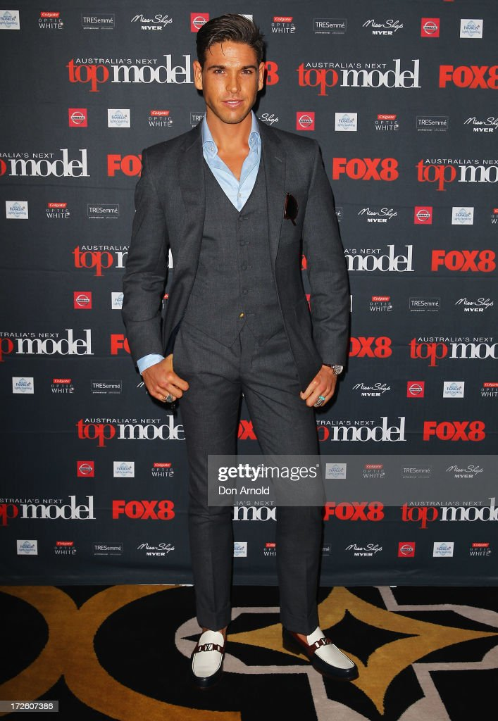 <a gi-track='captionPersonalityLinkClicked' href=/galleries/search?phrase=Didier+Cohen&family=editorial&specificpeople=5694694 ng-click='$event.stopPropagation()'>Didier Cohen</a> poses at the launch of Australia's Next Top Model Season 8 at Doltone House on July 4, 2013 in Sydney, Australia.