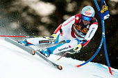 Didier Defago of Switzerland competes during the Audi FIS Alpine Ski World Cup Men's SuperG on December 20 2014 in Val Gardena Italy