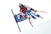 Didier Defago of Switzerland competes during the Audi FIS Alpine Ski World Cup Men's SuperG on January 23 2015 in Kitzbuehel Austria