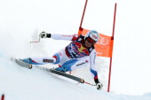 Didier Defago of Switzerland competes during the Audi FIS Alpine Ski World Cup Men's Downhill on January 25 2014 in Kitzbuehel Austria