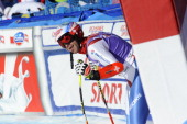 Didier Defago of Switzerland competes during the Audi FIS Alpine Ski World Cup Finals Men's SuperG on March 13 2014 in Lenzerheide Switzerland