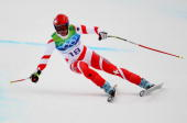 Didier Defago of Switzerland competes in the Alpine skiing Men's Downhill at Whistler Creekside during the Vancouver 2010 Winter Olympics on February...