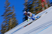 Didier Defago of Switzerland descends the course during men's downhill training for the Audi FIS World Cup on the Birds of Prey on December 2 2014 in...
