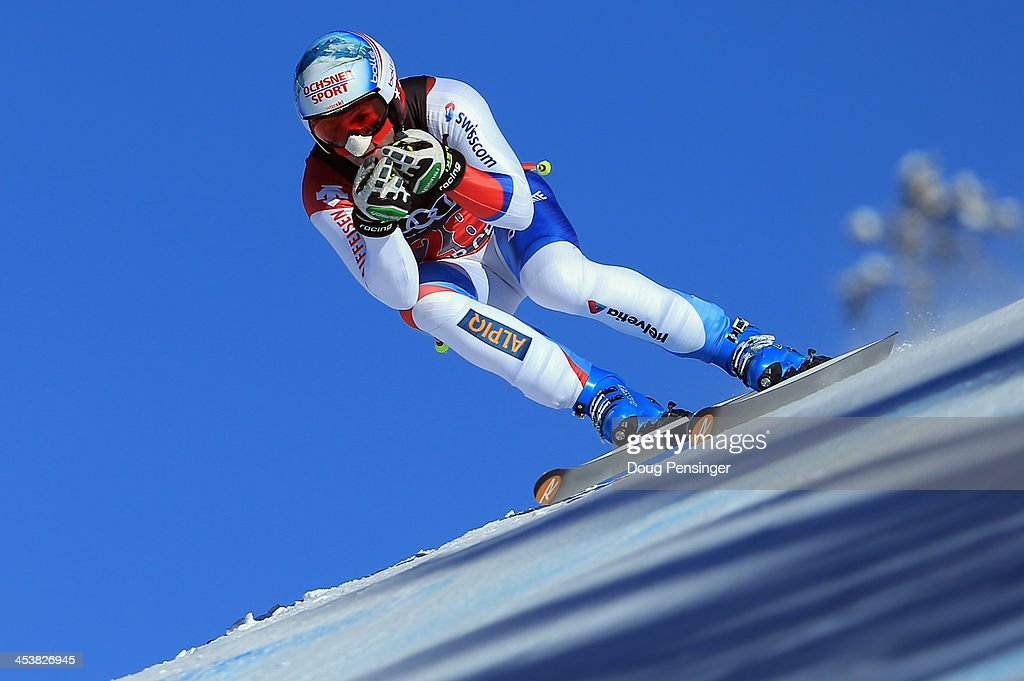 <a gi-track='captionPersonalityLinkClicked' href=/galleries/search?phrase=Didier+Defago&family=editorial&specificpeople=241278 ng-click='$event.stopPropagation()'>Didier Defago</a> of Switzerland in action during downhill training for the Birds of Prey Audi FIS Ski World Cup on December 5, 2013 in Beaver Creek, Colorado.