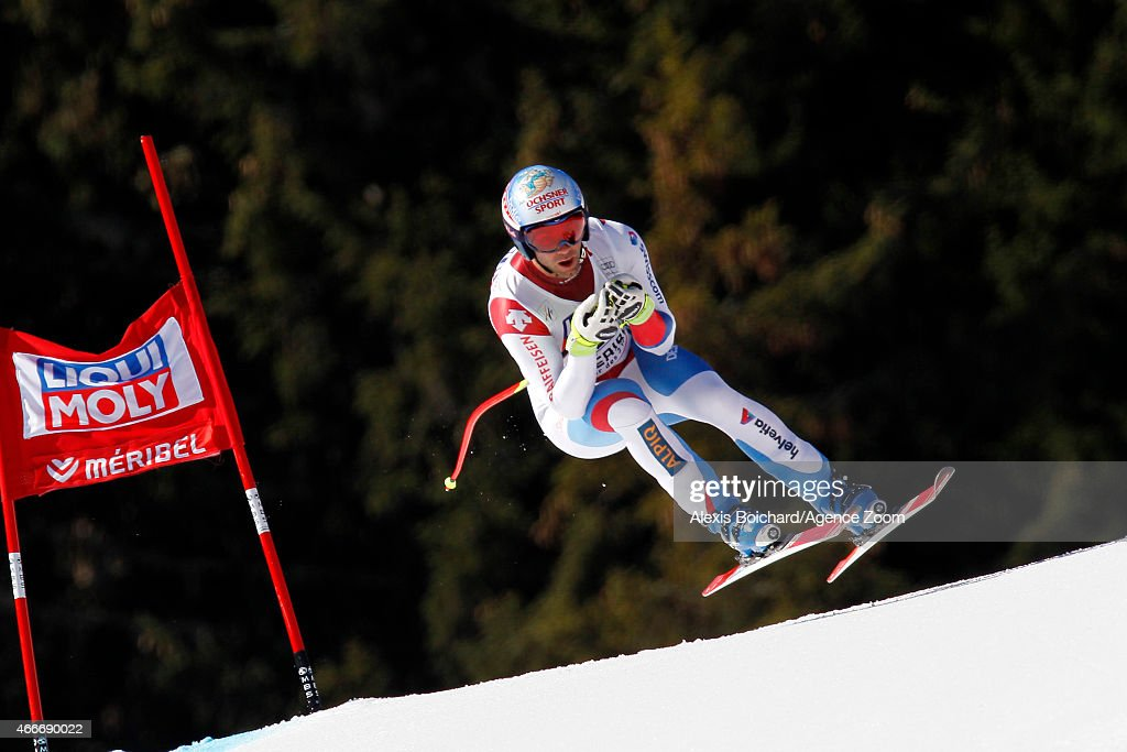<a gi-track='captionPersonalityLinkClicked' href=/galleries/search?phrase=Didier+Defago&family=editorial&specificpeople=241278 ng-click='$event.stopPropagation()'>Didier Defago</a> of Switzerland takes 2nd place in his last race before retiring during the Audi FIS Alpine Ski World Cup Finals Men's Downhill on March 18, 2015 in Meribel, France.