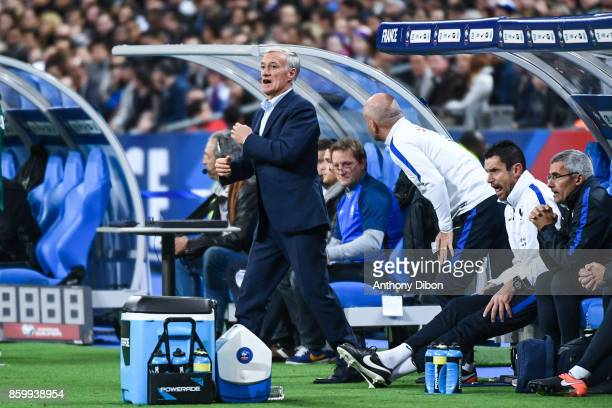 Didier Deschamps coach of France during the Fifa 2018 World Cup qualifying match between France and Belarus on October 10 2017 in Paris France