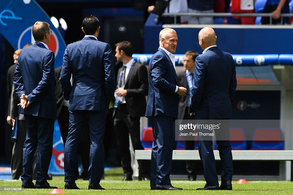 Didier Deschamps head coach of France during the European Championship match Round of 16 between France and Republic of Ireland at Stade des Lumieres on June 26, 2016 in Lyon, France.