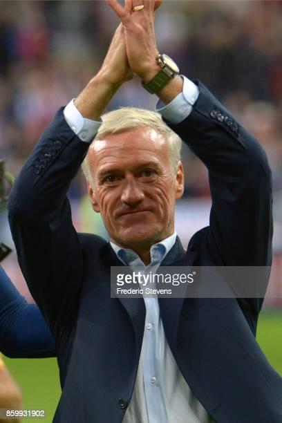 Didier Deschamps head coach of France Football team after the victory of his team during the FIFA 2018 World Cup Qualifier between France and Belarus...